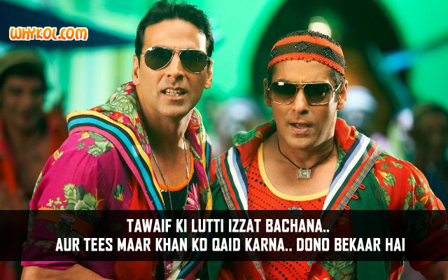 Funny Hindi Movie Dialogues | Akshay Kumar in Tees Maar Khan
