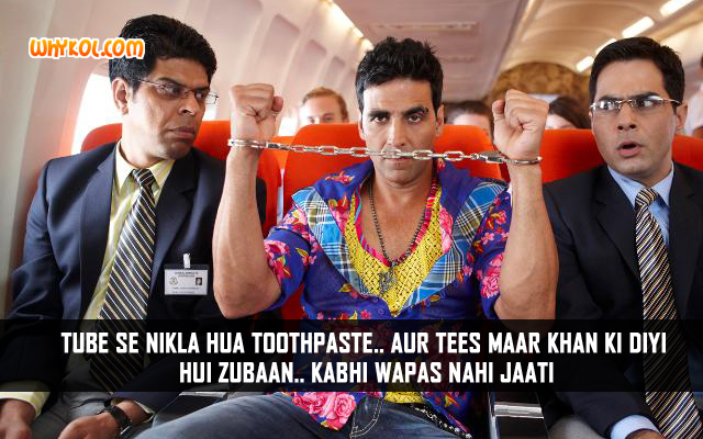 Popular Hindi Comedy Dialogues | Akshay Kumar in Tees Maar Khan