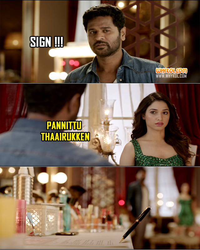 Tamil Movie Comedy Dialogues | Prabhu Deva and Tamannaah in Devi