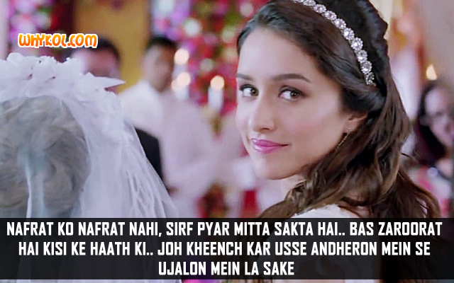 Ek Villain Hindi Movie Dialogues | Shraddha Kapoor
