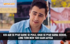 Quotes From Bollywood Movies | Imran Khan in Gori Tere Pyaar Mein