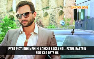 Hindi Funny Love Quotes From Movies   Saif Ali Khan From Happy Ending