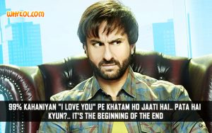 Funny Love Quotes | Saif Ali Khan Dialogues From Happy Ending