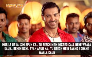 John Abraham Comedy Hindi Movie Dialogues | Welcome Back