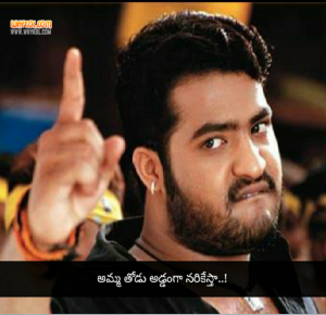 NTR famous dialogue from Aadi movie