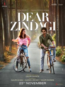 Dear Zindagi Official Poster Alia and SRK