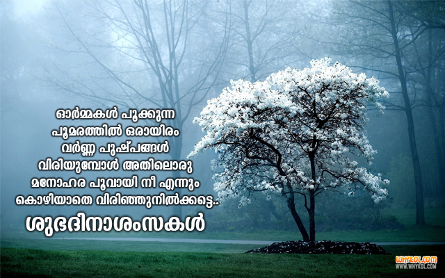 Good morning saying with images and quotes in malayalam