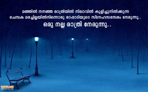 Romantic Good Night Messages in Malayalam