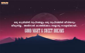 Good Night Wishes With Inspiring Quotes in Malayalam