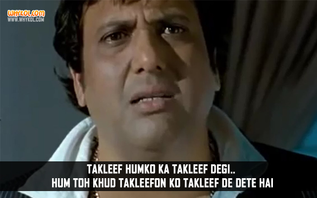 Govinda Dialogues From Hindi Movie Loot