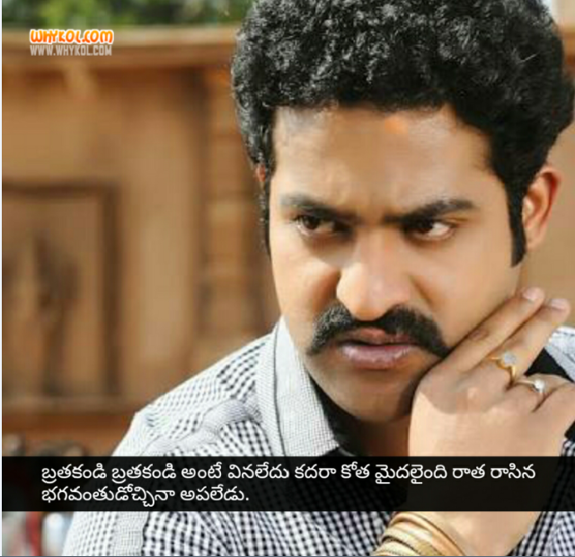 NTR dhammu movie dialogues in telugu