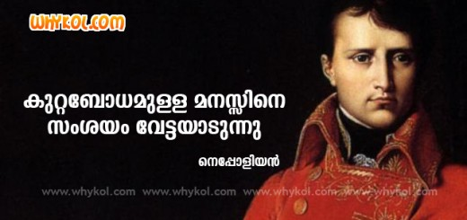 Great Sayings by Nepolean in Malayalam