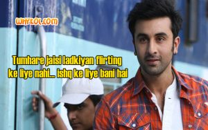 Love dialogues from the Hindi Movie Yeh jawaani hai deewani