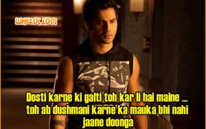 Varun Dhawan dialogues from Student Of The Year