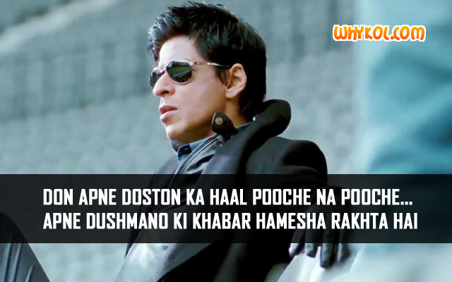 SRK Action Dialogues from the Bollywood movie Don 2