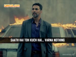 Akshay Kumar Dialogues from the Movie Airlift