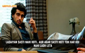 Arjun Kapoor Dialogues From The Movie Aurangzeb