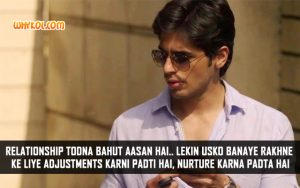 Sidharth Malhotra Dialogues From Hasee Toh Phasee