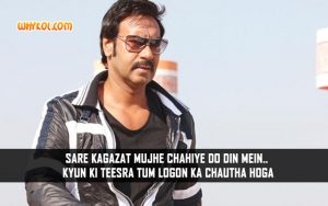 Popular Bollywood Movie Action Dialogues By Ajay Devgan