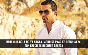 Bollywood Action Dialogues | John Abraham in Welcome Back