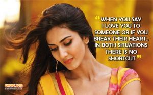 Love Quotes From The Movie Befikre | Vaani Kapoor